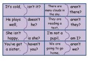 English Worksheet: tag questions-jigsaw