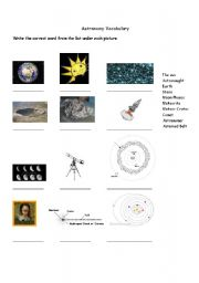 astronomy worksheets - photo #18