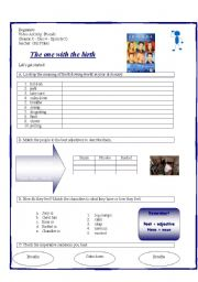 English Worksheet: video activity - friends