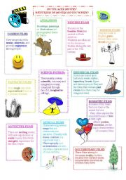 English Worksheets: Types of movies