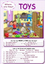 English Worksheet: Where are the toys?
