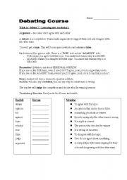 debate worksheet high school clroom debate best free printable worksheets. Black Bedroom Furniture Sets. Home Design Ideas