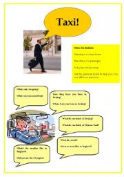 English Worksheets: Taxi! Asking Questions Activity