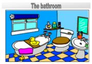 Rooms in the house flashcards: The bathroom