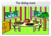 English Worksheet: Rooms in the house flashcards: The dining room