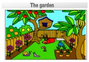 Rooms in the house flashcards: the garden