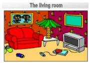 Rooms in the house flashcards: The living room