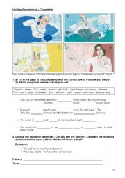 English Worksheet: Holiday Experiences - Complaints