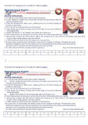 English Worksheets: US elections: John McCain