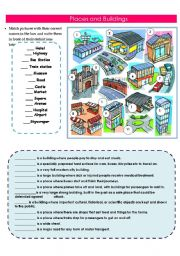 English Worksheet: Places and Buildings