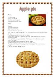 English teaching worksheets recipes english worksheets apple pie recipe forumfinder Choice Image