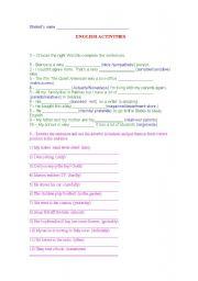 English worksheet: Adverbs/falsecognates