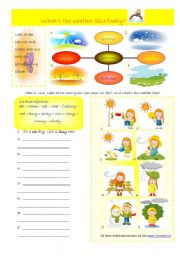 English Worksheet: what´s the weather like today? 05-08-08
