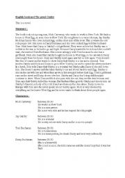 English Worksheets: english bookcar the great gatsby
