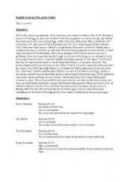 English Worksheets: english bookcar the great gatsby