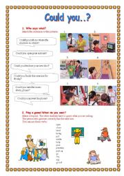 English Worksheets: Could you..?