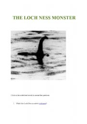 Webquest The Loch Ness Monster