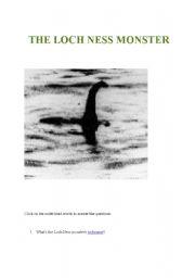 English Worksheet: Webquest The Loch Ness Monster
