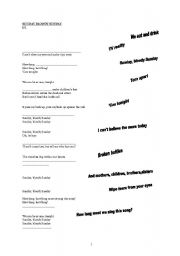 English worksheets: Sunday Bloody Sunday: a song about Irish history