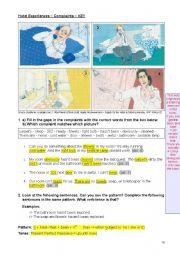 English Worksheet: Hotel Experiences - Complaints - KEY