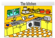 Rooms in the house flashcards: the kitchen