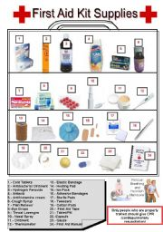 Worksheets First Aid Worksheets english teaching worksheets first aid kit pictionary
