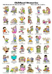 English Worksheet: Childhood Memories