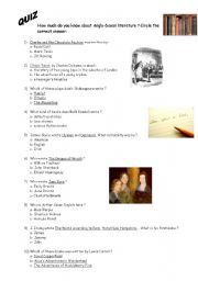 English Worksheets: Anglo-saxon literature