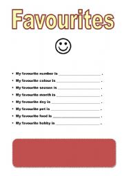 English Worksheets: Favourites