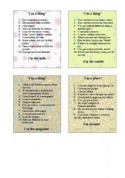 English Worksheet: GAME - 10 QUESTIONS PART 2