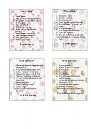 English Worksheet: GAME - 10 QUESTIONS PART 3