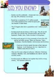 English Worksheet: Do you know about Russia?