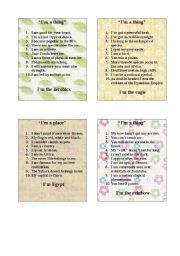 English Worksheet: GAME - 10 QUESTIONS PART 4