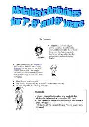 English Worksheet: MAFALDA IN ENGLISH