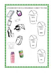 Printables Recycling For Kids Worksheets esl kids worksheets recycling english worksheet recycling