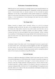 English Worksheets: Tecnology