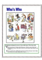 English Worksheets: WHO DID WHAT?