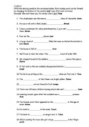 English Worksheets: Anagrams