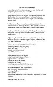 English Worksheets: sentences arrangement