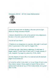 English Worksheets: Pythagoras- our teacher