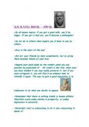 English Worksheets: Socrates-saying/Quotes