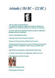 English Worksheets: Aristotle