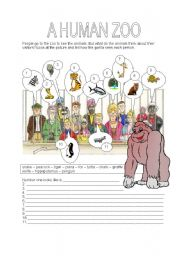 English Worksheets: THE HUMAN ZOO