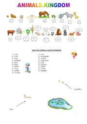 English Worksheets: animals kingdom