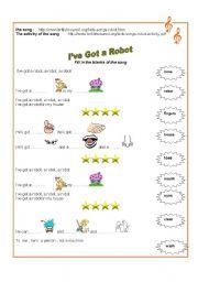 Song 1 :  ´´  I´ve  got  a robot ´´   11.08.08