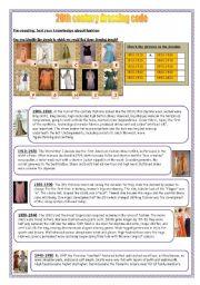 English Worksheets: 20th century dressing code (12-08-08)