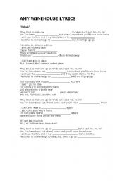 English Worksheet: Amy Winehouse Lyrics