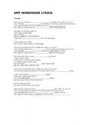 English Worksheets: Amy Winehouse Lyrics