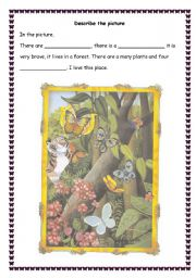 English Worksheets: wild forest