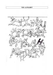 English Worksheets: alphabet and spelling